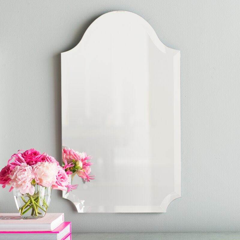 Tall Wall Mirror willa arlo interiors dariel tall arched scalloped wall mirror