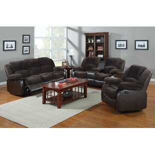 Nathaniel Home Aiden Reclining 3 Piece Living Room Set