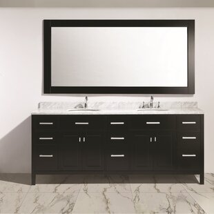 Middletown 84 Double Sink Vanity Set with Mirror by Andover Mills
