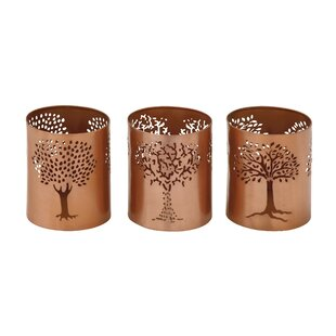3 Piece Iron Votive Set