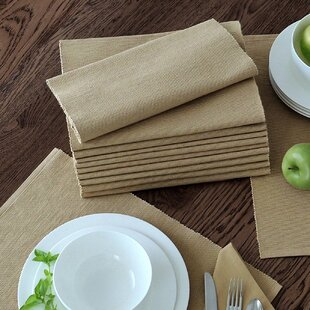 Ribbed Solid Cotton Placemat (Set of 12)