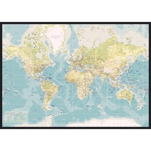 World map wayfair world map retro graphic art wrapped on canvas by incadoproductionas gumiabroncs Gallery