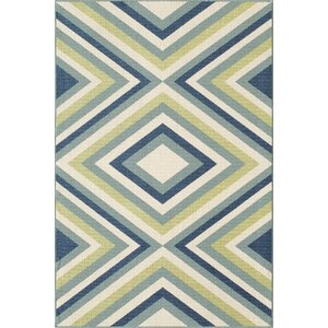 Wexler Blue/Green Indoor/Outdoor Area Rug