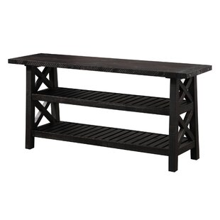 Peninsula Slatted 2 Tier Console Table