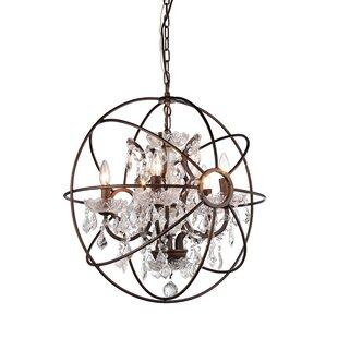 Warehouse of Tiffany 5-Light Globe Chandelier