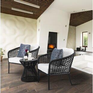 Order Kylen 3 Piece Rattan 2 Person Seating Group with Cushions (Set of 3) Good purchase
