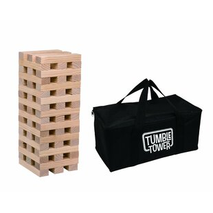 Cirencester 54 Piece Wood Spring Outdoor Tumble Tower Set with Bag by Freeport Park
