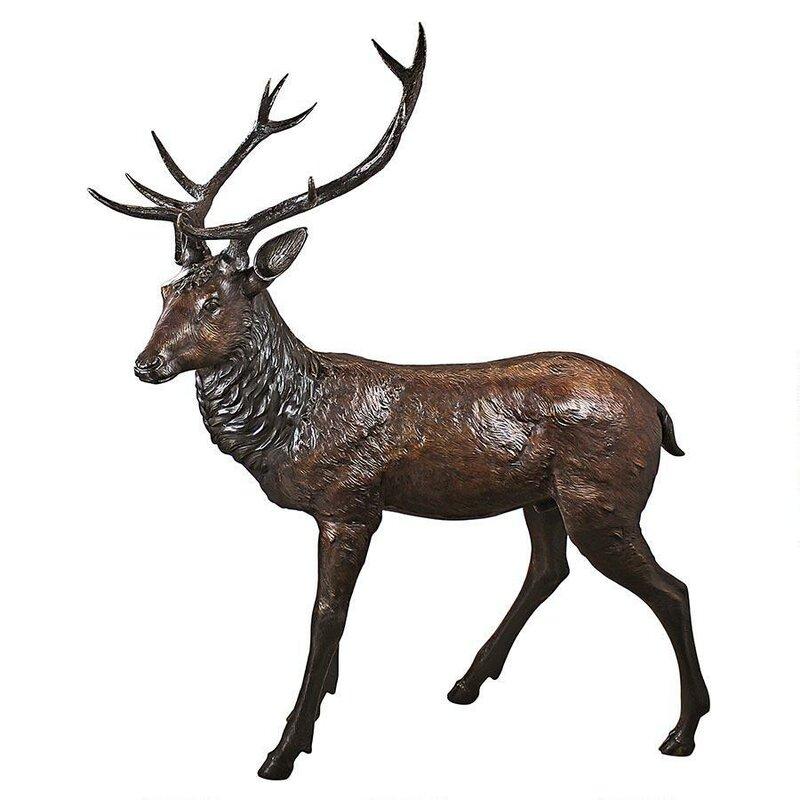 Superbe Standing Deer Buck Garden Statue
