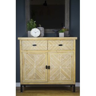 Bresnahan 2 Drawer 2 Door Parquet Server by Union Rustic