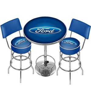 Ford Game Room Combo 3 Piece Pub Table Se..