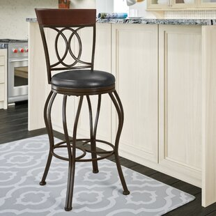 Mekhail Swivel Bar Stool by Re..