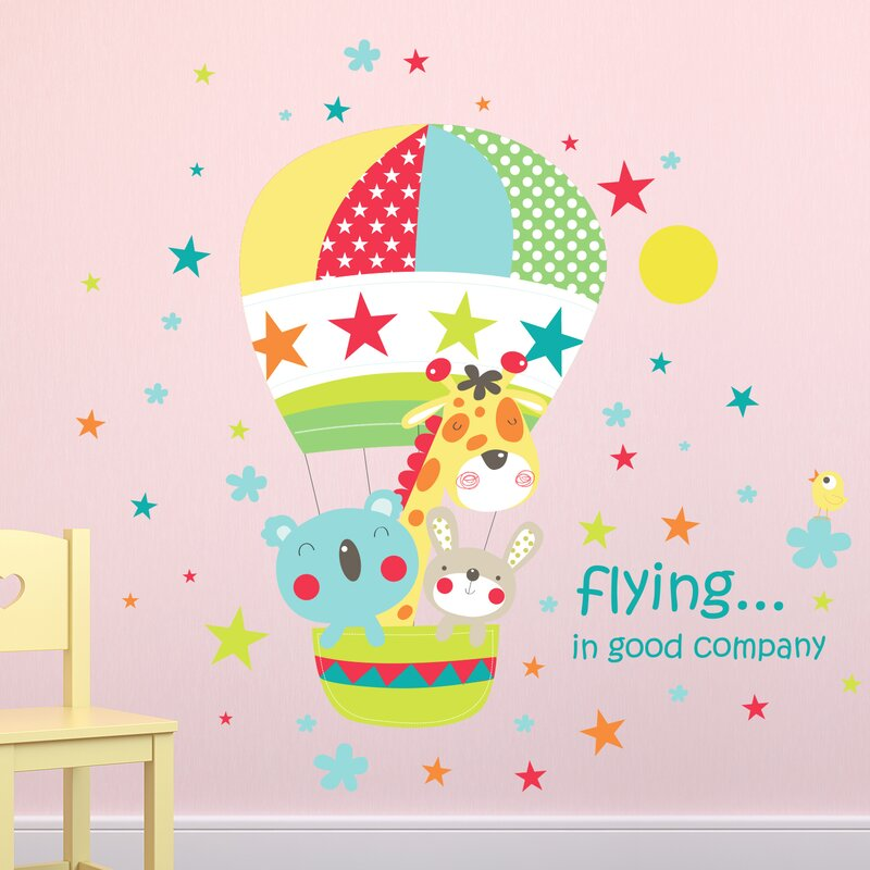 Best Friends Hot Air Balloon Ride Wall Decal