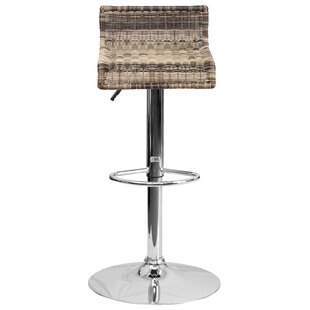 Applewood Adjustable Height Swivel Bar Stool (Set of 2) Highland Dunes