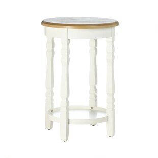 Electra Wood Top End Table by August Grove
