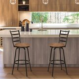 Catalano Adjustable Height Swivel Bar Stool (Set of 2) by Fleur De Lis Living