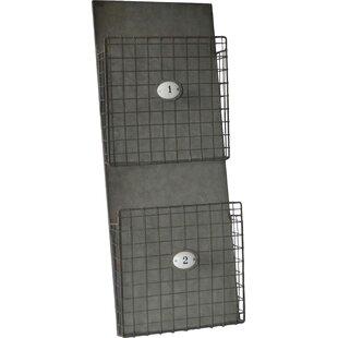 2 Tier Metal Wall Storage Magazine Rack