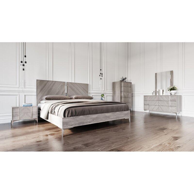 . Labombard Modern 5 Piece Platform Bedroom Set