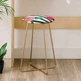 Natalie Baca Stripes and Blooms 25 Bar Stool by East Urban Home