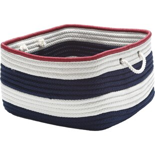 Find Nautical Stripe Fabric Basket By Colonial Mills