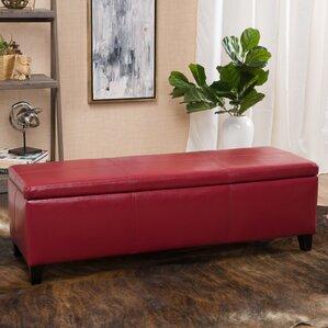 Charlenne Faux Leather Storage Ottoman