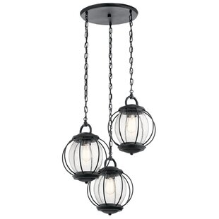 Best Haddox 3-Light Outdoor Pendant By Brayden Studio