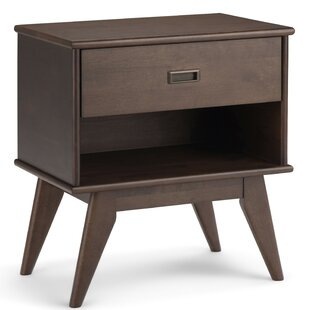 Hamill Mid Century 1 Drawer Nightstand by George Oliver