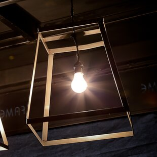 1-Light Square/Rectangle Pendant by REZ Furniture