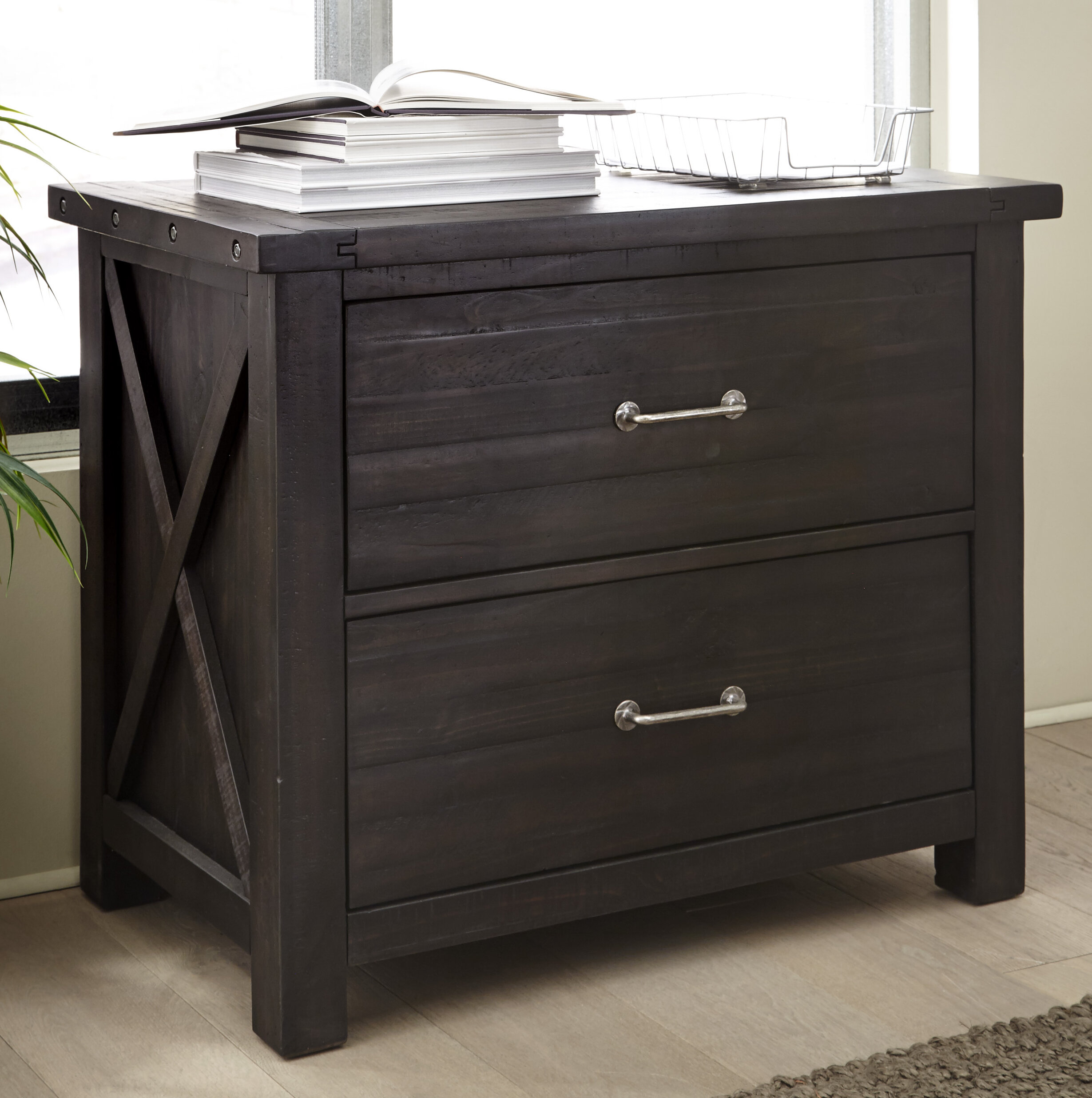Langsa Solid Wood 2 Drawer Lateral