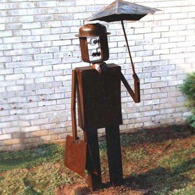 The Wall Street Journalist Garden Statue