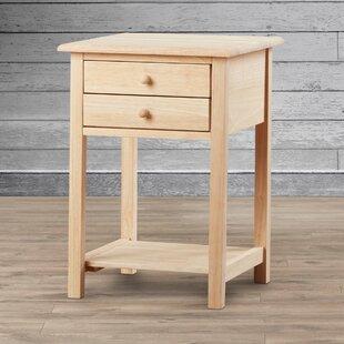 Bargain Lynn Wood End Table With Storage ByMistana