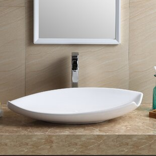 modern vitreous china specialty vessel bathroom sink - Modern Bathroom Sinks