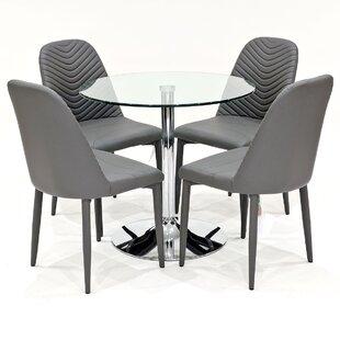 Danton Dining Set With 4 Chairs By Metro Lane