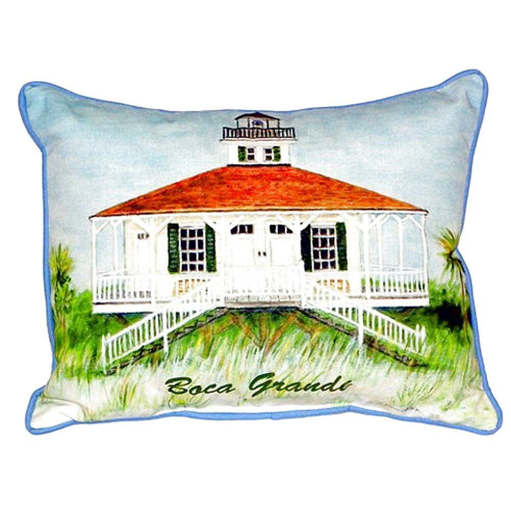Betsy drake interiors boca grande lighthouse indoor for Boca chaise pillow