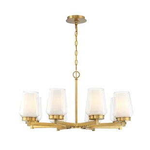 Alcott Hill Jaeden Customizable 8-Light Shaded Chandelier