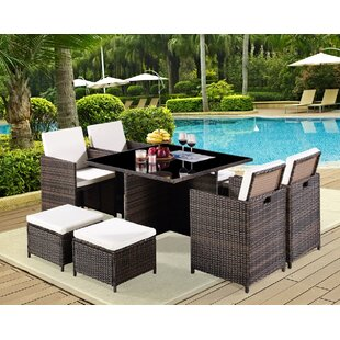 8 Seater Dining Set With Cushions Image