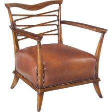 Caramel Leather Leon Armchair by John Richard