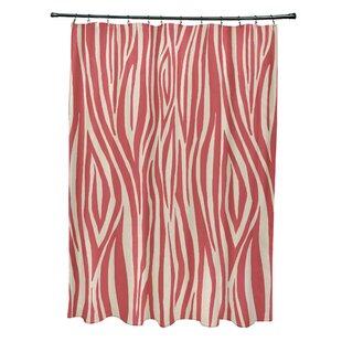 Kam Wood Print Single Shower Curtain
