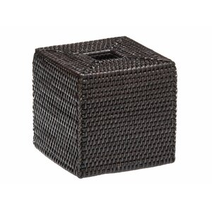 Sylvia Square Rattan Tissue Box Cover