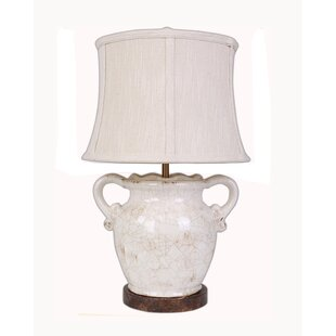 Compare Floras Hand Crafted Ceramic Vase 23 Table Lamp By AHS Lighting