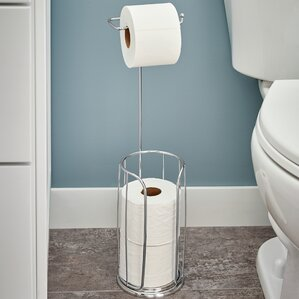 freestanding toilet paper holder