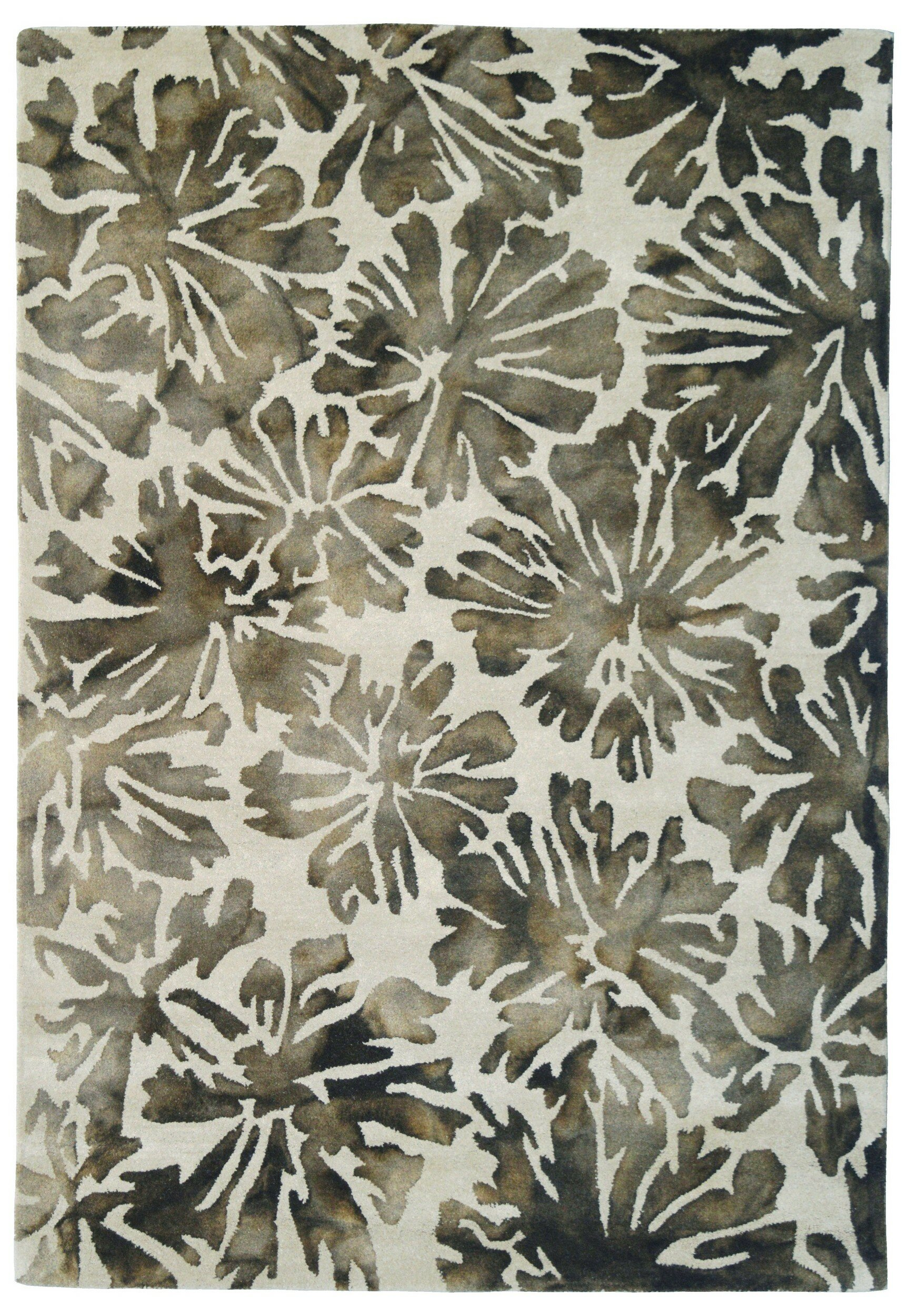 Eastern Weavers Wool Floral Hand Tufted Gray Charcoal Area Rug Wayfair