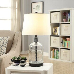 Farmhouse lamps birch lane woodburn metal and glass 265 table lamp aloadofball