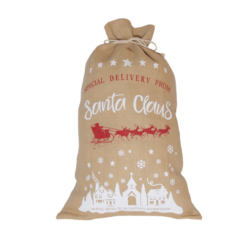 The Holiday Aisle Special Delivery From Santa Claus Santa Bag Wayfair