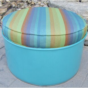 Astoria Lagoon Ottoman with Cushion by Drum Works Furniture