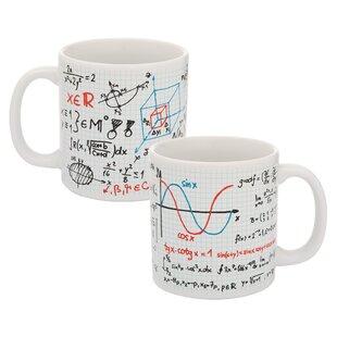 Mathematical 20 oz. 2 Piece Coffee Mug Set (Set of 2)