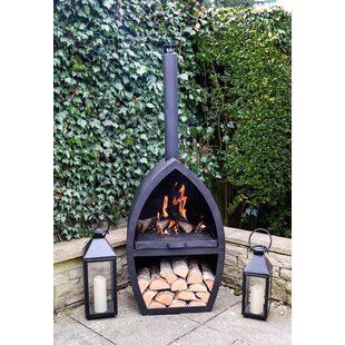Haverford Iron Wood Burning Chiminea By Sol 72 Outdoor