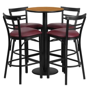Chirag 5 Piece Pub Table Set Red Barrel Studio