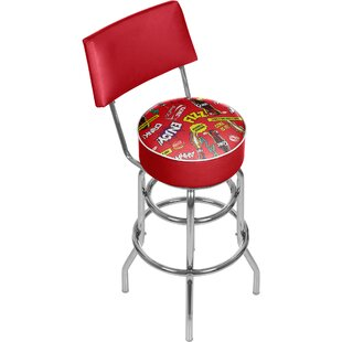 Coca Cola Pop Art 31 Swivel Bar Stool by Trademark Global Coupon