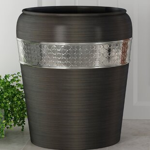 NU Steel Flannel Mod Stainless Steel Waste Basket