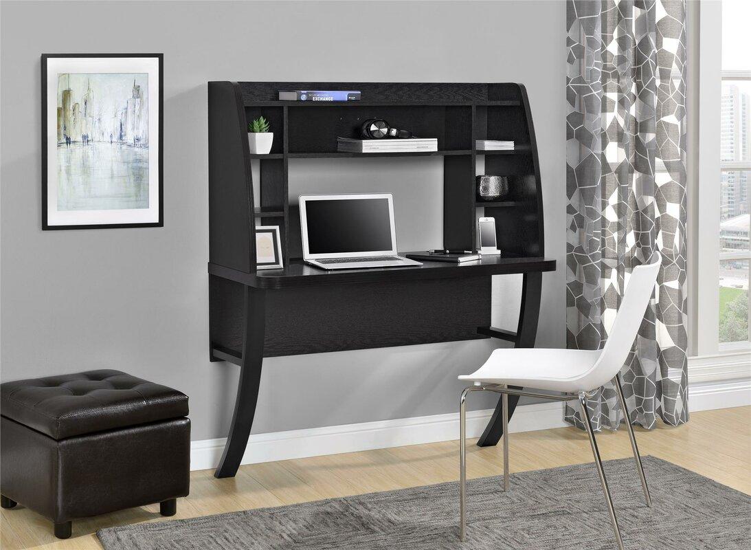 Prepac White Floating Desk With Storage Zipcode Design Oliviana Floating  Desk With Hutch U0026 Reviews Wayfair
